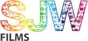 SJW Films company logo multi coloured acronym and black text